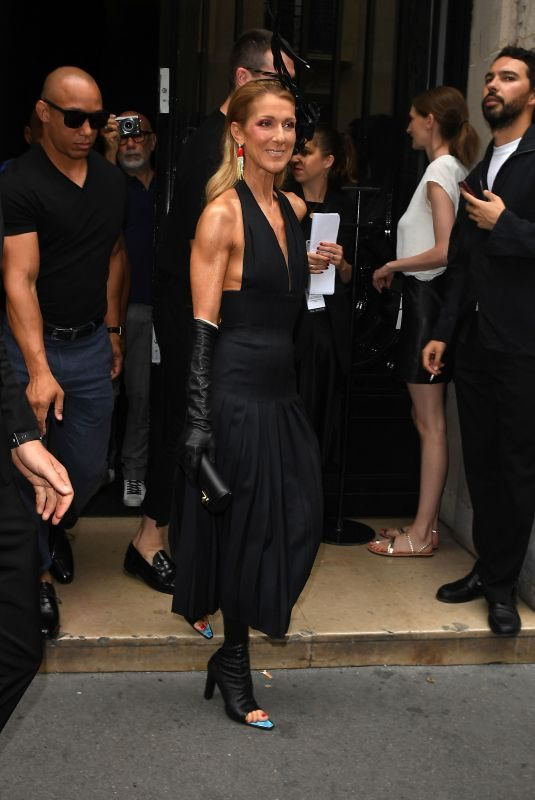 CELINE DION at Schiaparellii Fashion Show at PFW in Paris 07/01/2019