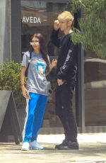 CHANTEL JEFFRIES and Machine Gun Kelly Out for Lunch in Los Angeles 07/09/2019