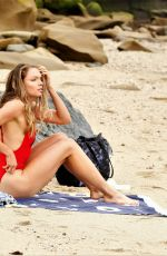 CHARI HAWKINS in Swimsuit on the Beach in California 07/02/2019