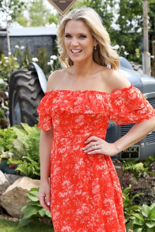 CHARLOTTE HAWKINS at RHS Hapton Court Palace Garden Festival 2019 in London 07/01/2019