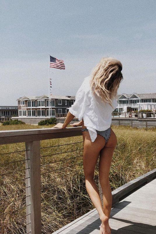 CHARLOTTE MCKINNEY in IG Bikini at a Beach 07/20/2019
