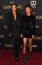 CHLOE and HALLE BAILEY at The Lion King Premiere in Hollywood 07/09/2019