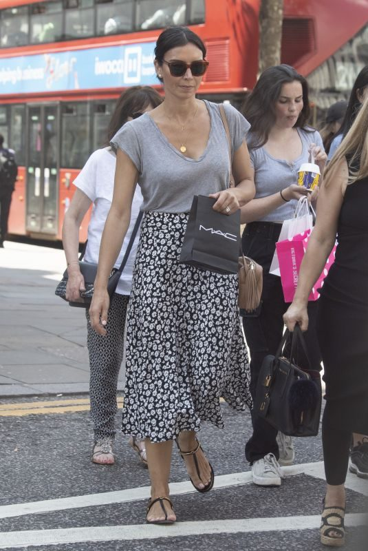 CHRISTINE LAMPARD Out Shopping on Kings Road in London 07/16/2019