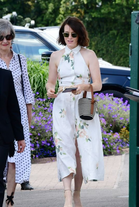 CLAIRE FOY Arrives at Wimbledon Tennis Championships 07/11/2019