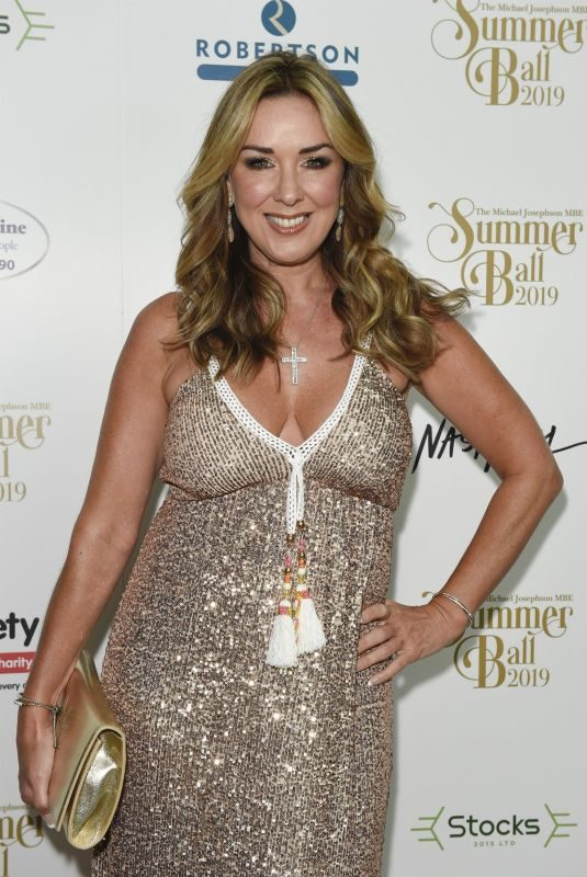 CLAIRE SWEENEY at Michael Josephson MBE Summer Ball Raising Funds for Rhree Charities in Manchester 06/29/2019