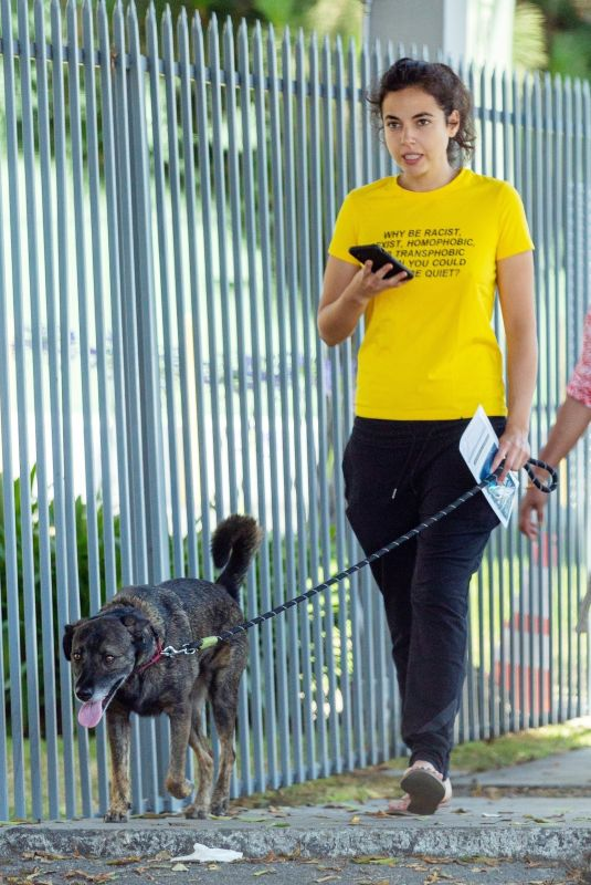 CRISTINA RODLO Out with Her Dog in Loz Feliz 07/02/2019