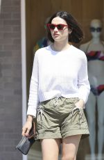 CRYSTAL REED Shows off Her New Short Haircut Out in Beverly Hills 07/11/2019