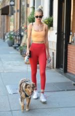 DAPHNE GROENEVELD Out with Her Dog in New York 07/15/2019