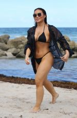 DAPHNE JOY in Bikini on the Beach in Miami 07/16/2019