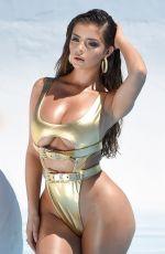 DEMI ROSE in Metallic Gold Bikini at a Photoshoot in Los Angeles 07/02/2019
