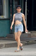 DIANE KRUGER in Denim Shorts Out in New York 07/17/2019