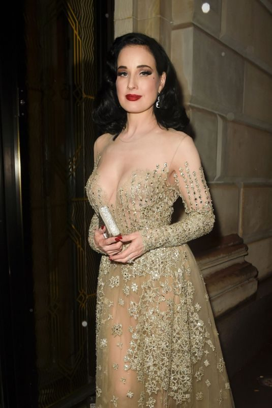 DITA VON TEESE Arrives at Her Hotel in Manchester 07/27/2019