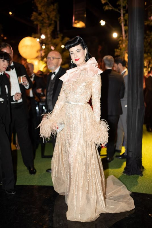 DITA VON TEESE at Elie Saab Jr and Christina Mourad Wedding in Faqra 07/19/2019