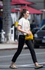 ELIZABETH OLSEN at Red Window Coffee in Los Angeles 07/08/2019