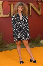 ELLA EYRE at The Lion King Premiere in London 07/14/2019