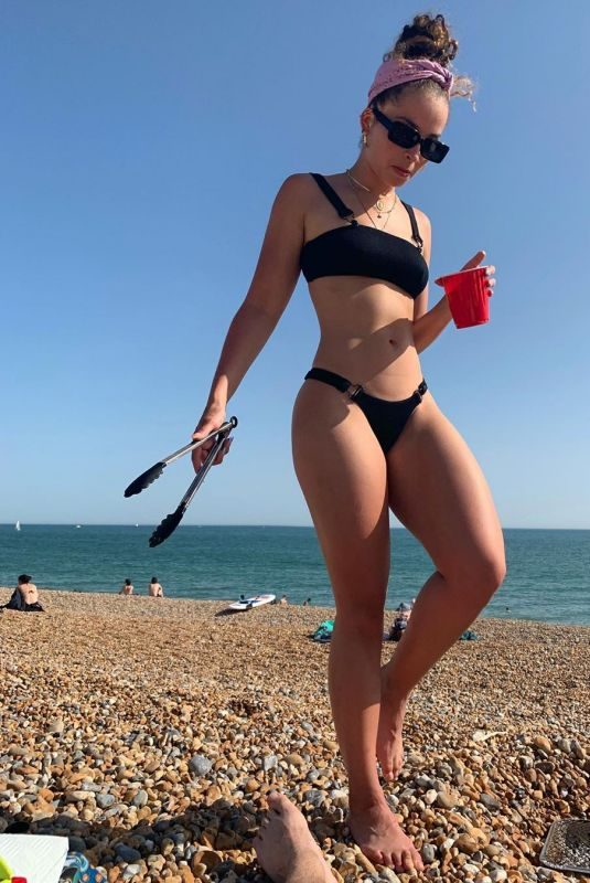 ELLA EYRE in Bikini at Brighton Beach 06/29/2019