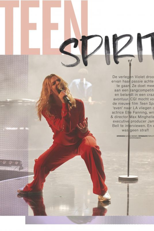 ELLE FANNING in Cosmogirl! Magazine, July 2019