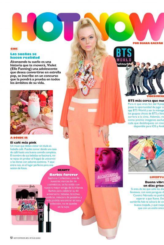 ELLE FANNING in Seventeen Magazine, Mexico August 2019