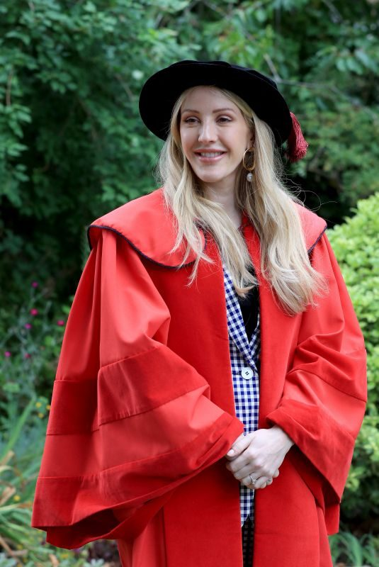 ELLIE GOULDING Receiving Honorary Doctor of Arts Degree from the University of Kent 07/18/2019