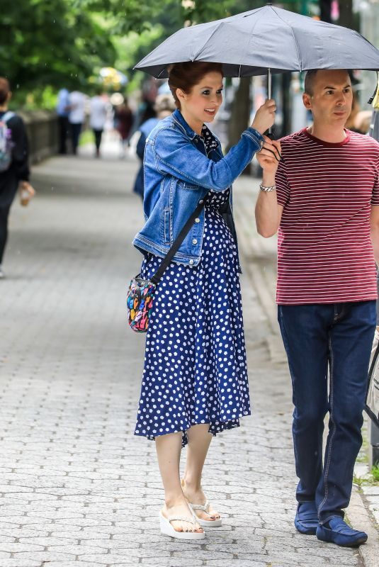 ELLIE KEMPER on hte Set of Unbreakable Kimmy Schmidt in New York 07/09/2019