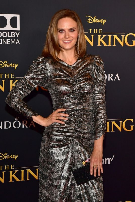 EMILY DESCHANEL at The Lion King Premiere in Hollywood 07/09/2019