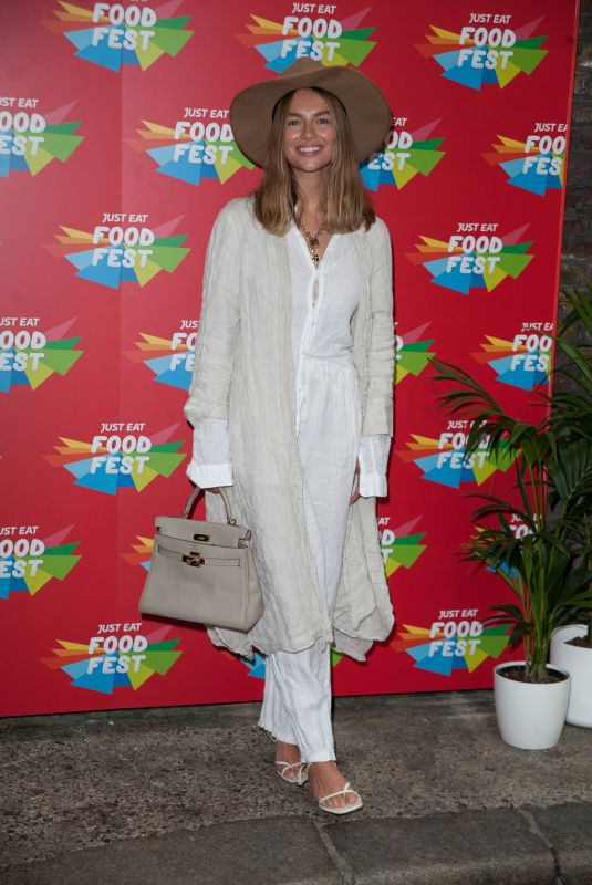 EMMA LOUISE at Just Eat Food Fest Taste Adventure VIP Launch in London 07/25/2019