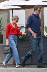 EMMA ROBERTS and Garrett Hedlund Out for Coffee in Los Feliz 07/07/2019