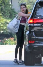 EMMA ROBERTS at a Gym in Los Angeles 07/17/2019