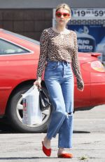EMMA ROBERTS Leaves Rite Aid in Los Feliz 07/08/2019