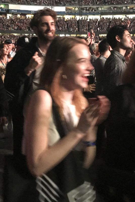 EMMA STONE at Paul McCartney Concert in Los Angeles 07/13/2019