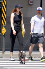 ERIN DRAKE and Daniel Radcliffe Out with Their Dog in New York 07/08/2019