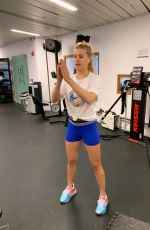 EUGENIE BOUCHARD Working at a Gym - Instagram Pictures 07/01/2019