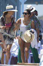 EVA LONGORIA in Swimsuit at a Pool in Marbella 07/10/2019