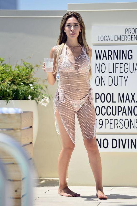 FARRAH ABRAHAM in Bikini at a Pool in Los Angeles 07/19/2019