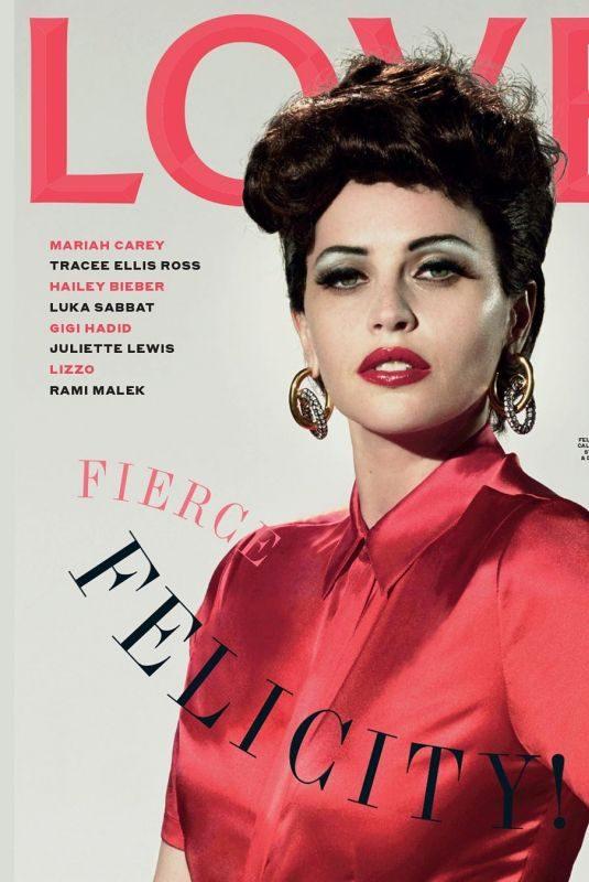 FELICITY JONES on the Cover of Love Magazine, August 2019
