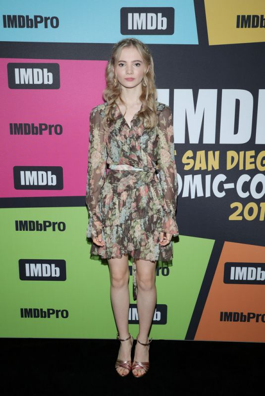 FREYA ALLEN at #imdboat at 2019 Comic-con in San Diego 07/20/2019