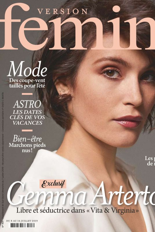 GEMMA ARTERTON in Femina Magazine, July/August 2019