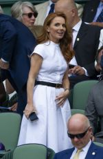 GERI HALLIWELL at Royal Box on Centre Court in Wimbledon 07/05/2019