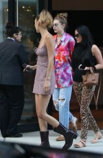 GIGI and BELLA HADID and KACEY MUSGRAVES Out for Dinner in New York 07/19/2019