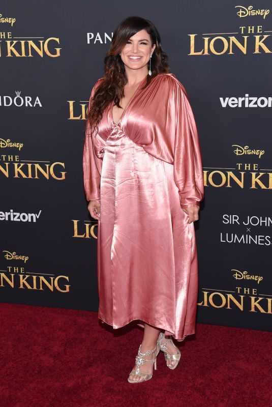 GINA CARANO at The Lion King Premiere in Hollywood 07/09/2019
