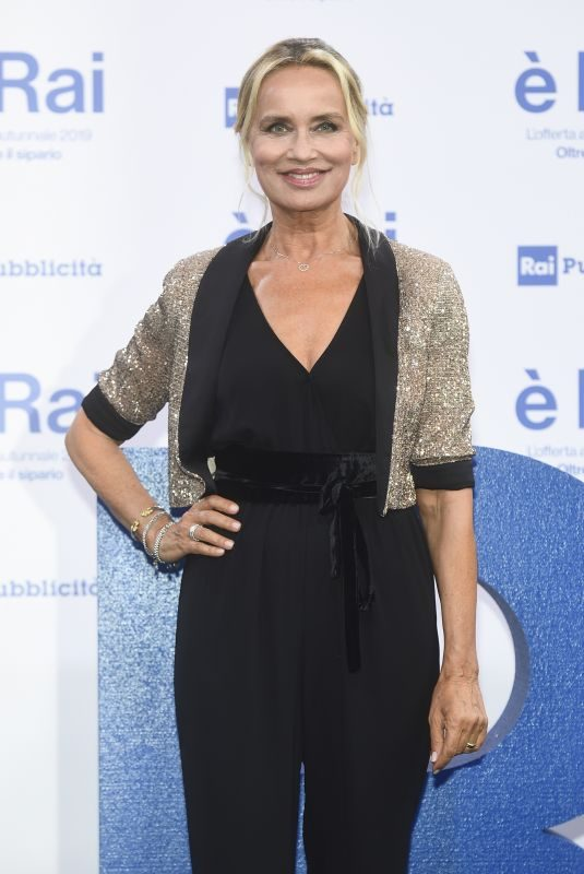 GLORIA GUIDA at RAI Pogramming Launch in Milan 07/09/2019