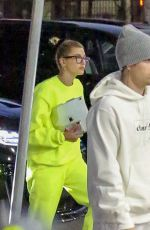 HAILEY and Justin BIEBER at a Hockey Game Practice in Los Angeles 07/02/2019