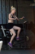 HEIDI MONTAG at a Gym in Los Angeles 07/23/2019