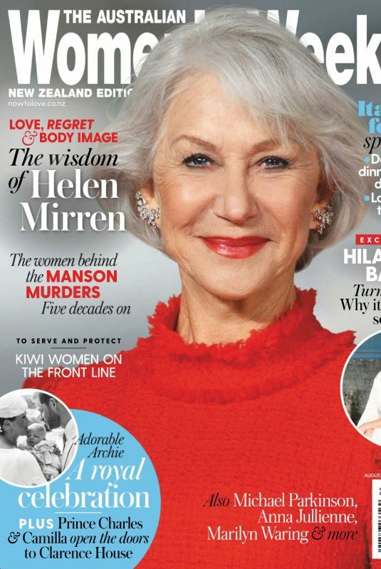 HELEN MIRREN in Australian Womens Weekly, New Zeland Edition August 2019
