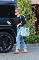 HILARY DUFF at Il Pastaio in Beverly Hills 07/08/2019