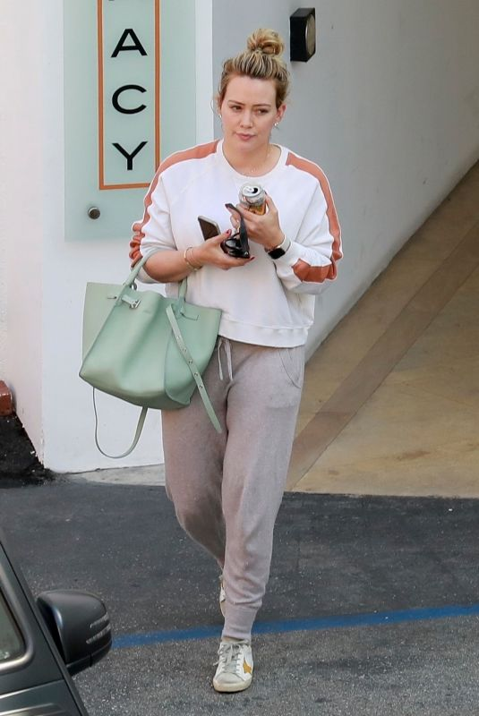 HILARY DUFF Leaves a Medical Building in Beverly Hills 07/09/2019
