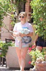 HILARY DUFF Out and About in New York 07/30/2019