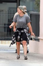 HILARY DUFF Out and About in Studio City 07/23/2019