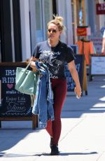 HILARY DUFF Out Shopping in Studio City 07/15/2019