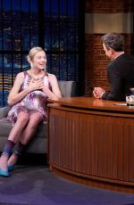 HUNTER SCHAFER at Late Night with Seth Meyers 07/23/2019